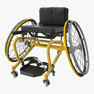 3D sport wheelchair
