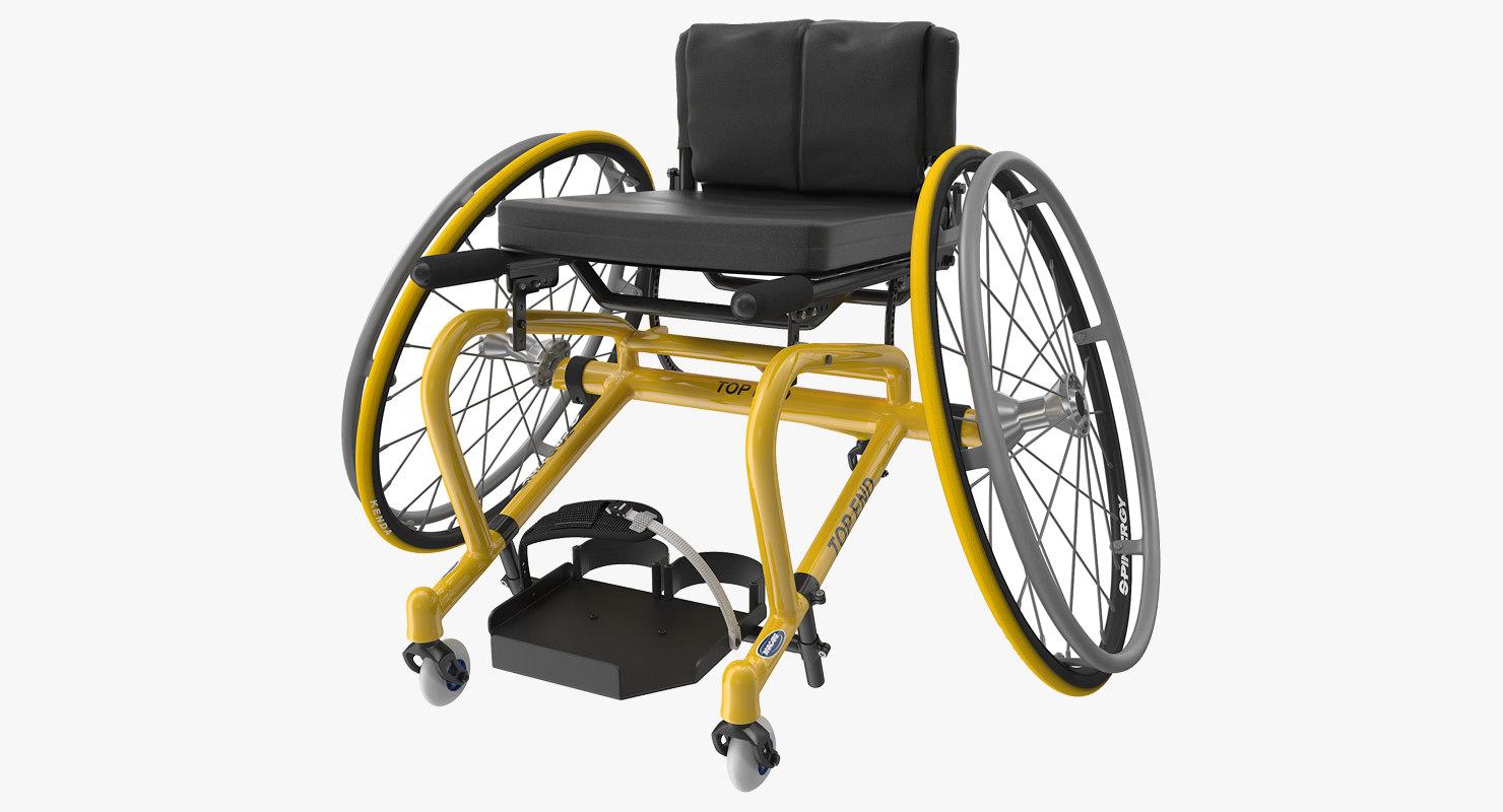 3D sport wheelchair