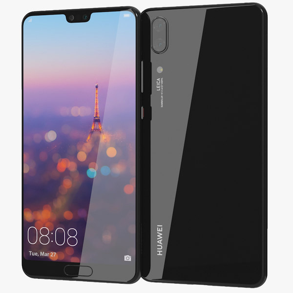 3D realistic huawei p20 midnight