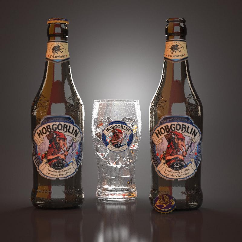 3D hobgoblin beer bottles model