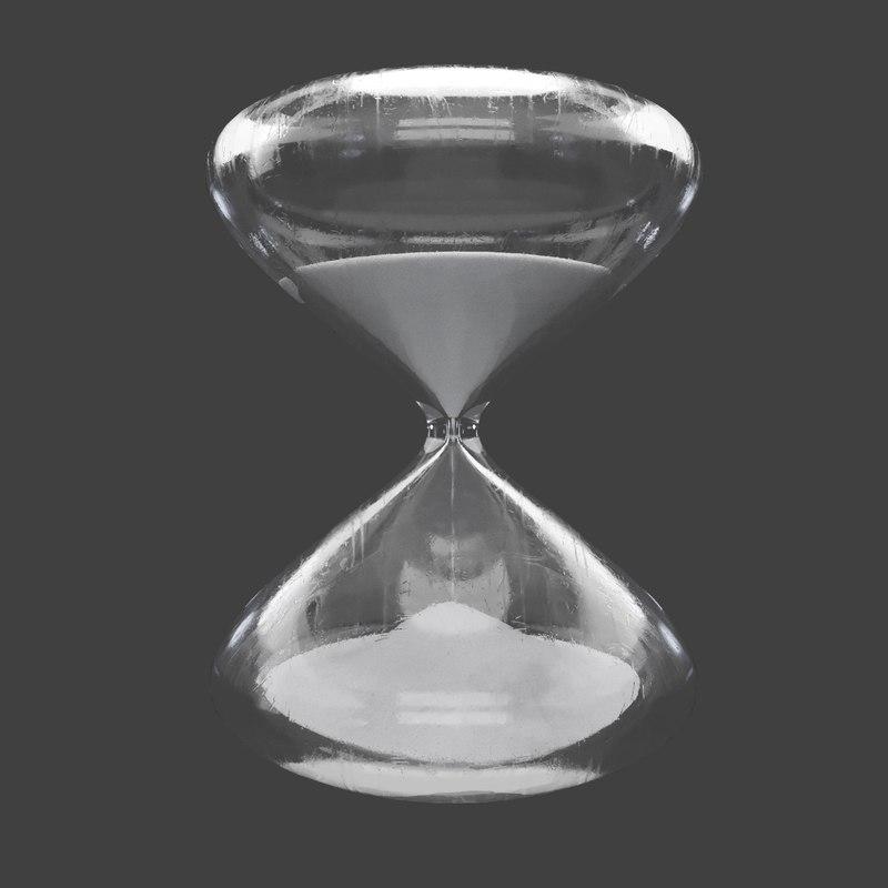 white sand hour glass 3D model