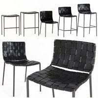 chairs milano woven stool 3D