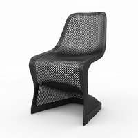 3D bloom modern dining chair