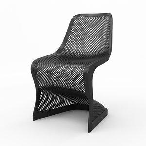 3D bloom modern dining chair