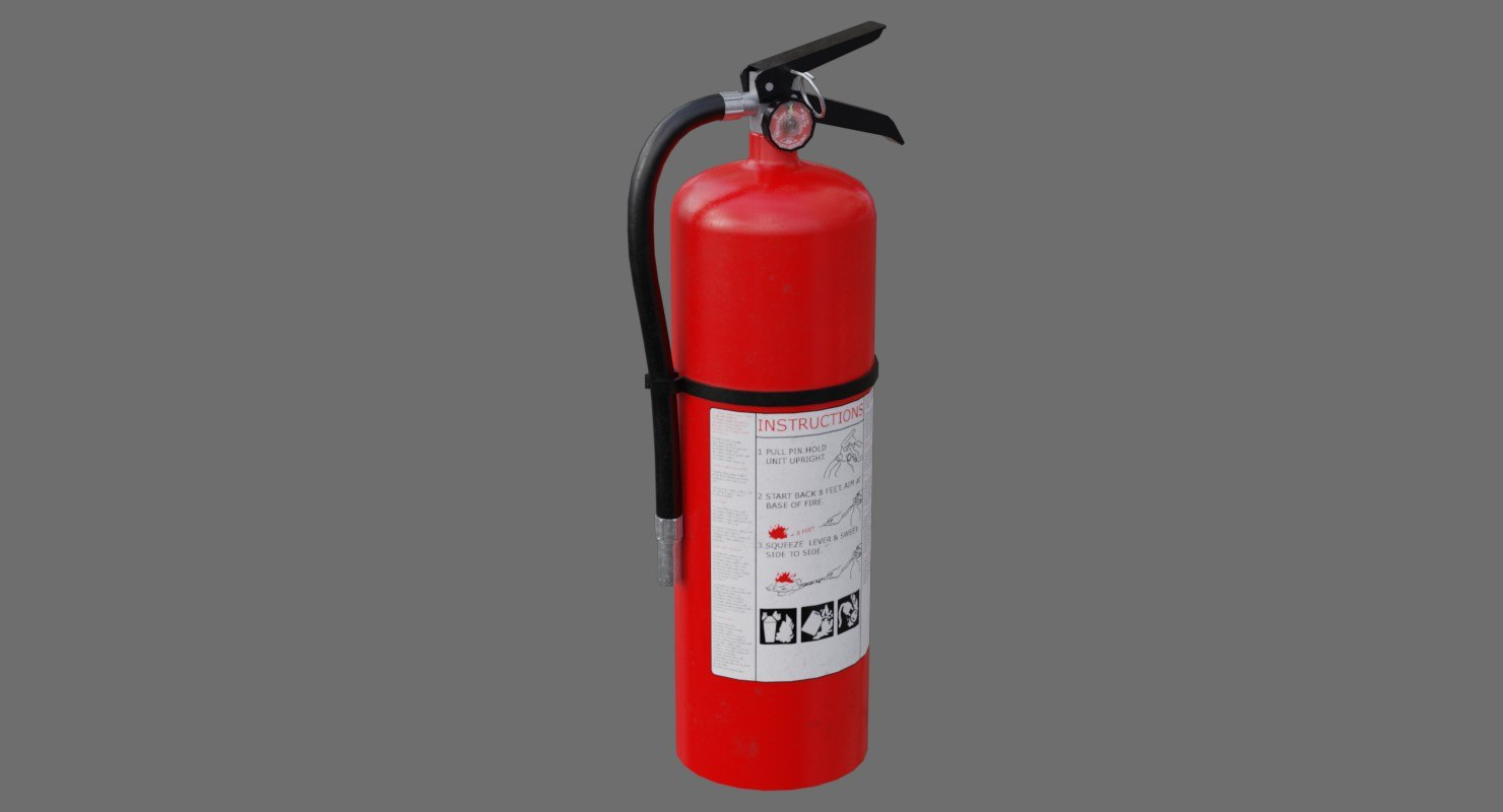 3D model extinguisher 1a