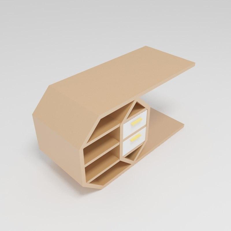 3D model table furnishing