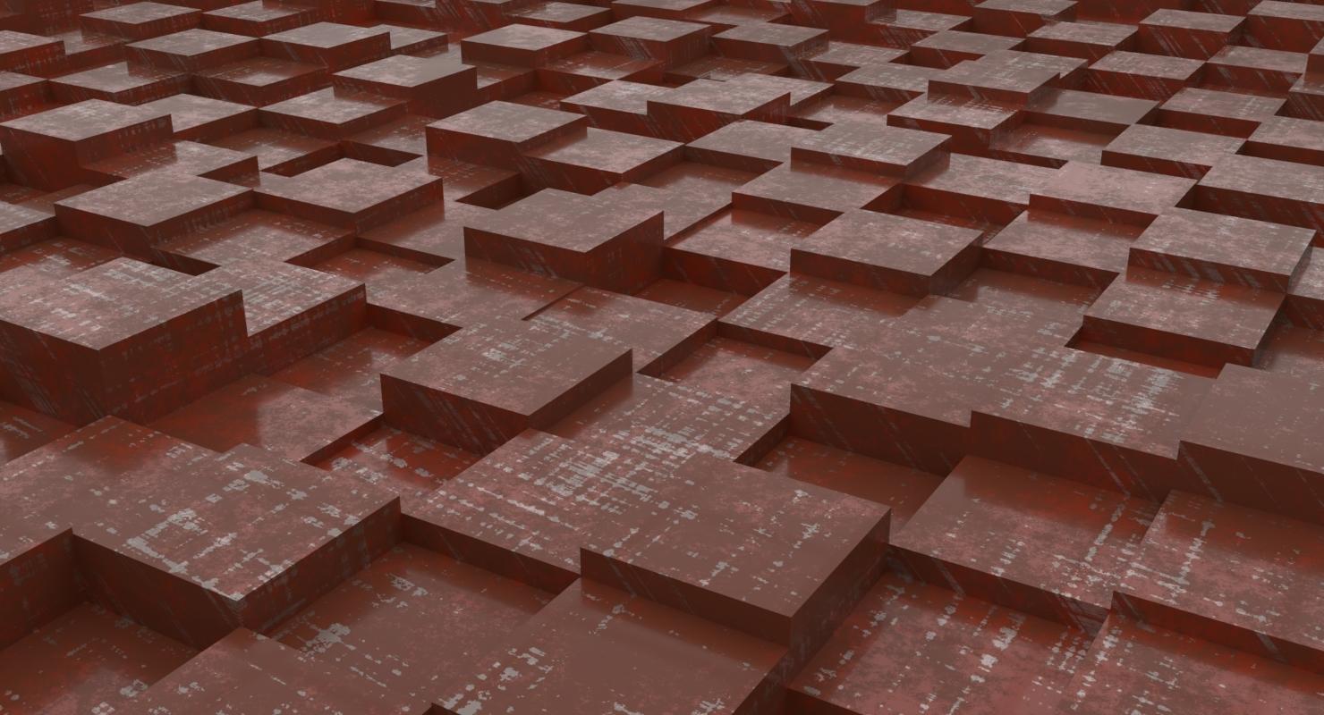 3D infinite cubes model