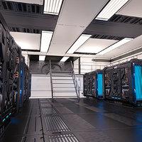 3D sci fi generator room model