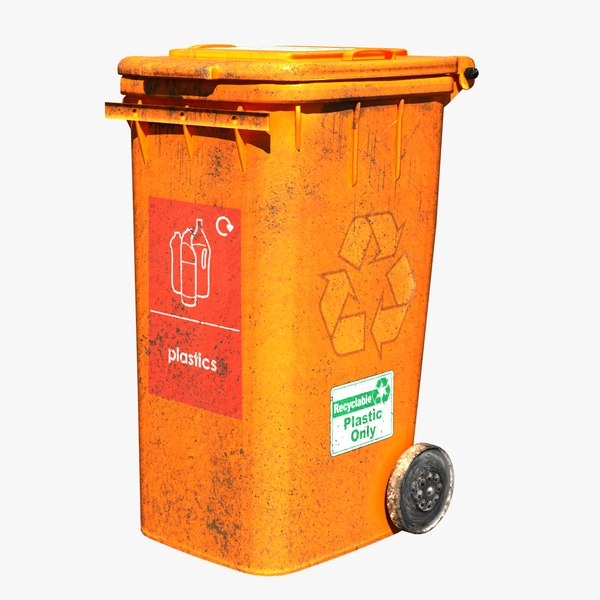 3D model trash bin plastic