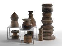 decorative objects set 3 3D model