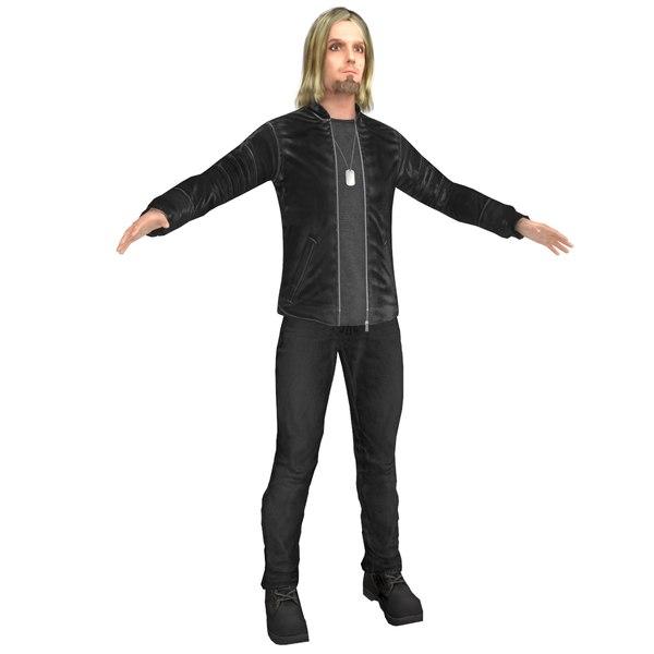 3D urban man