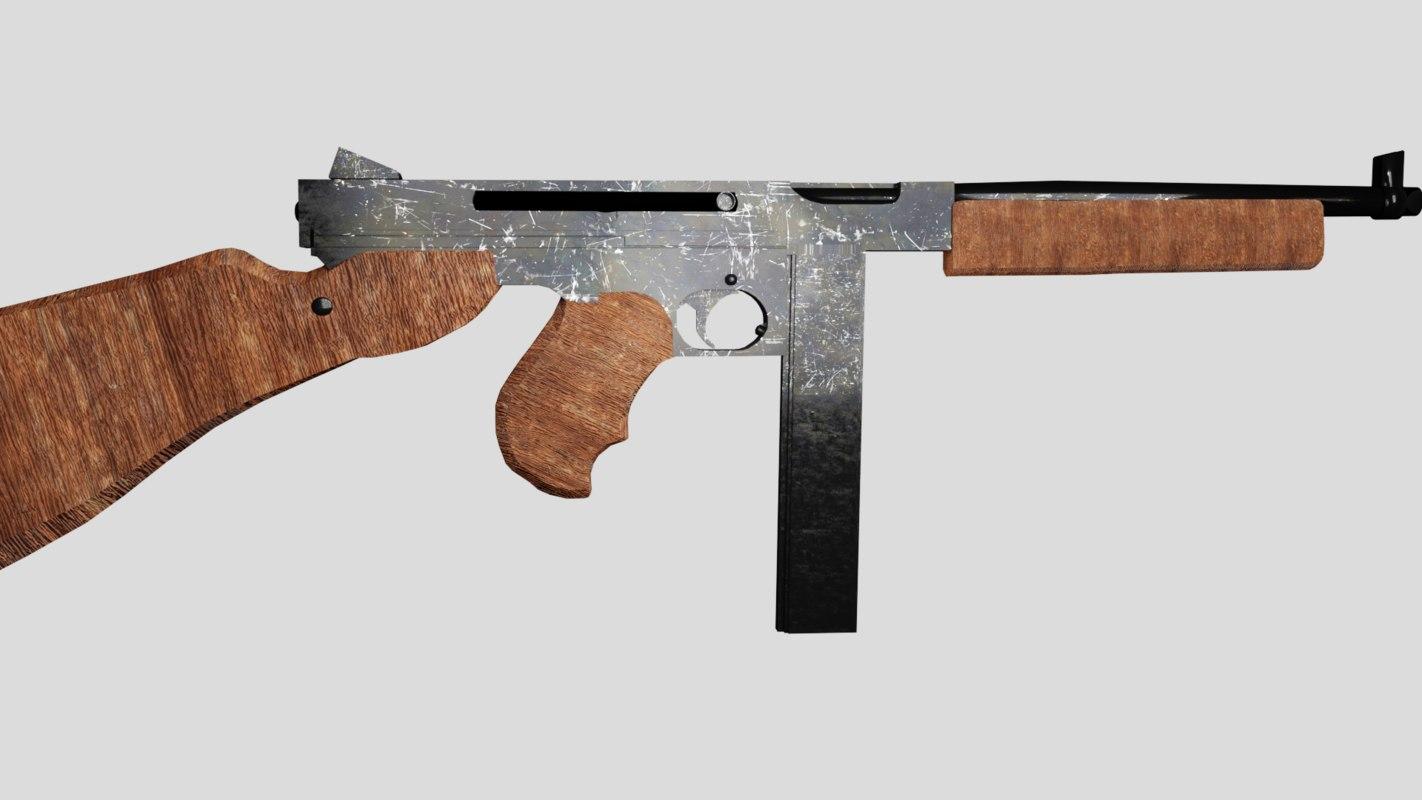 tommy gun 3D model