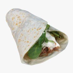 retopology burrito 3D model
