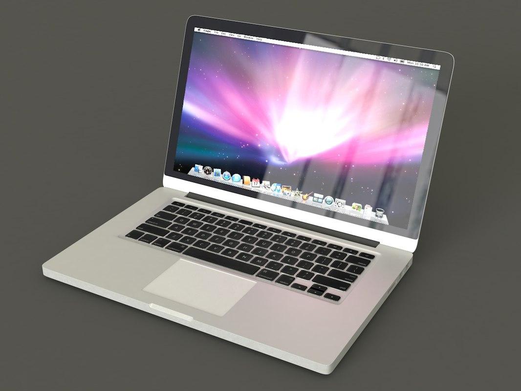 3D macbook mac model