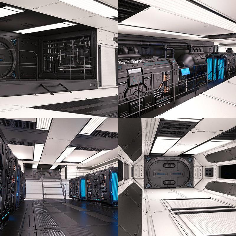 3D sci fi interior 02