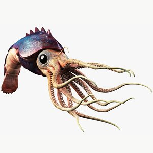squid creature model