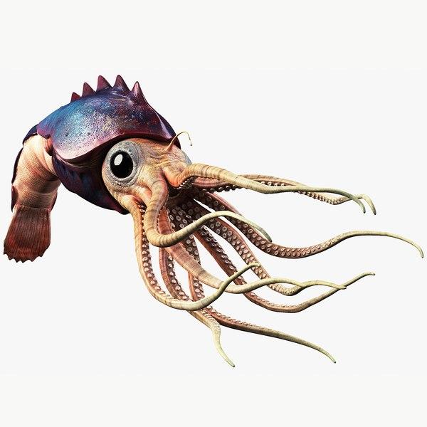 squid creature model
