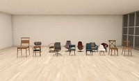 14 Chair collection For Revit