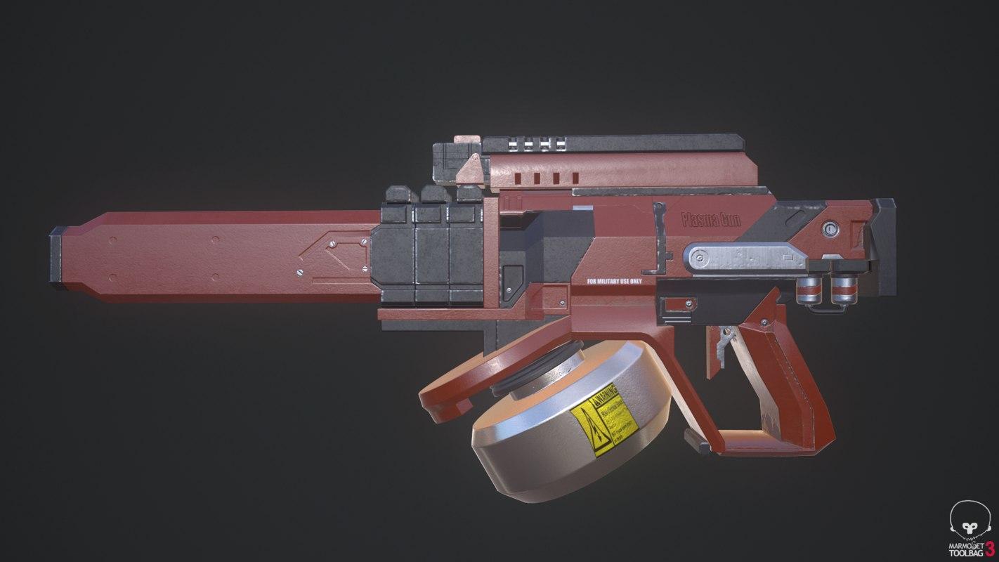 sci-fi plasma fusion gun 3D