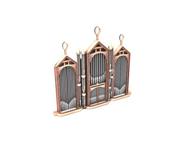 3D church organ model