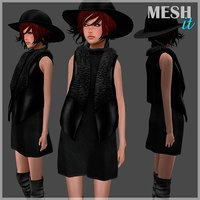 vest dress set 3D model