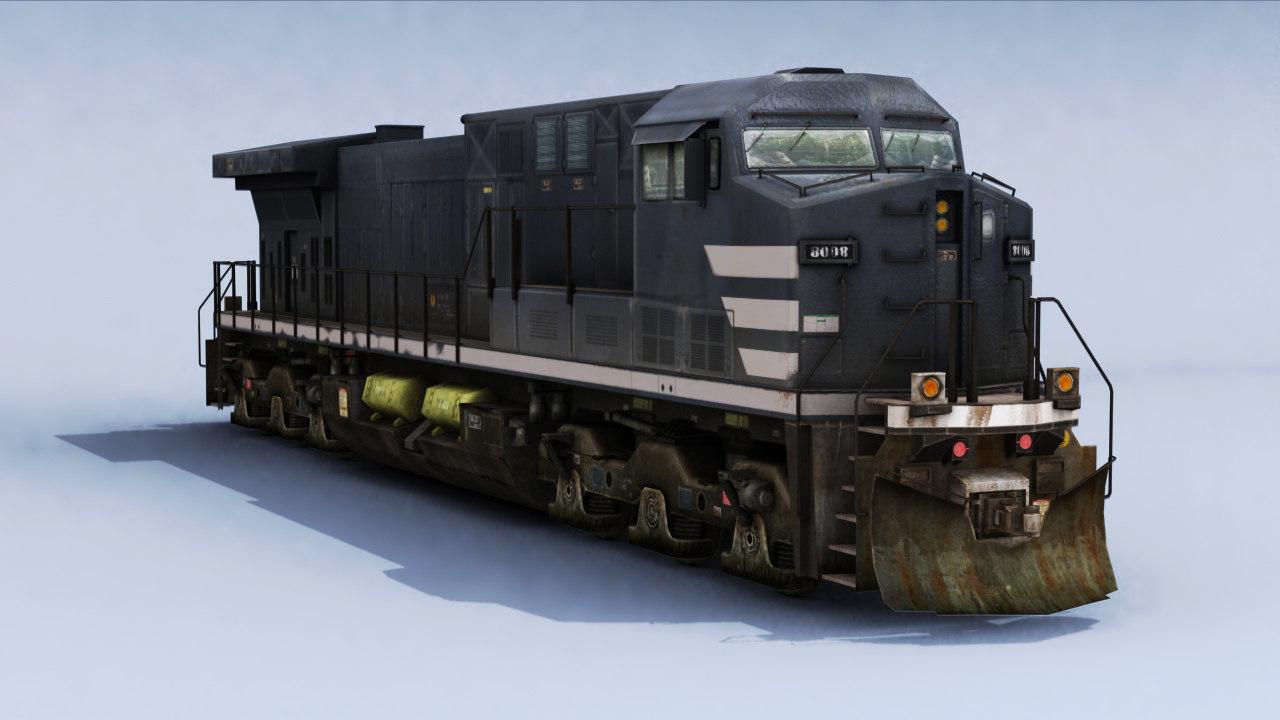 3D electric locomotive model