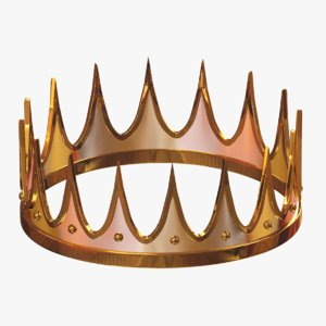 cartoon king crown 3D model
