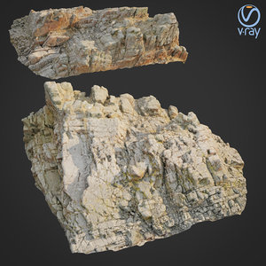 3D scanned rock cliff q