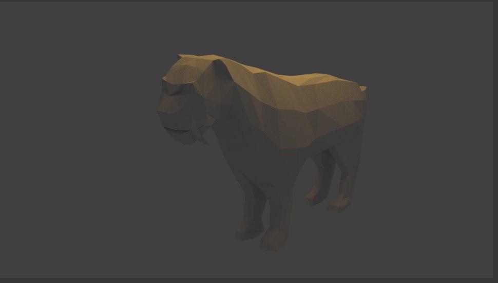 smilodon primeval lion 3D model