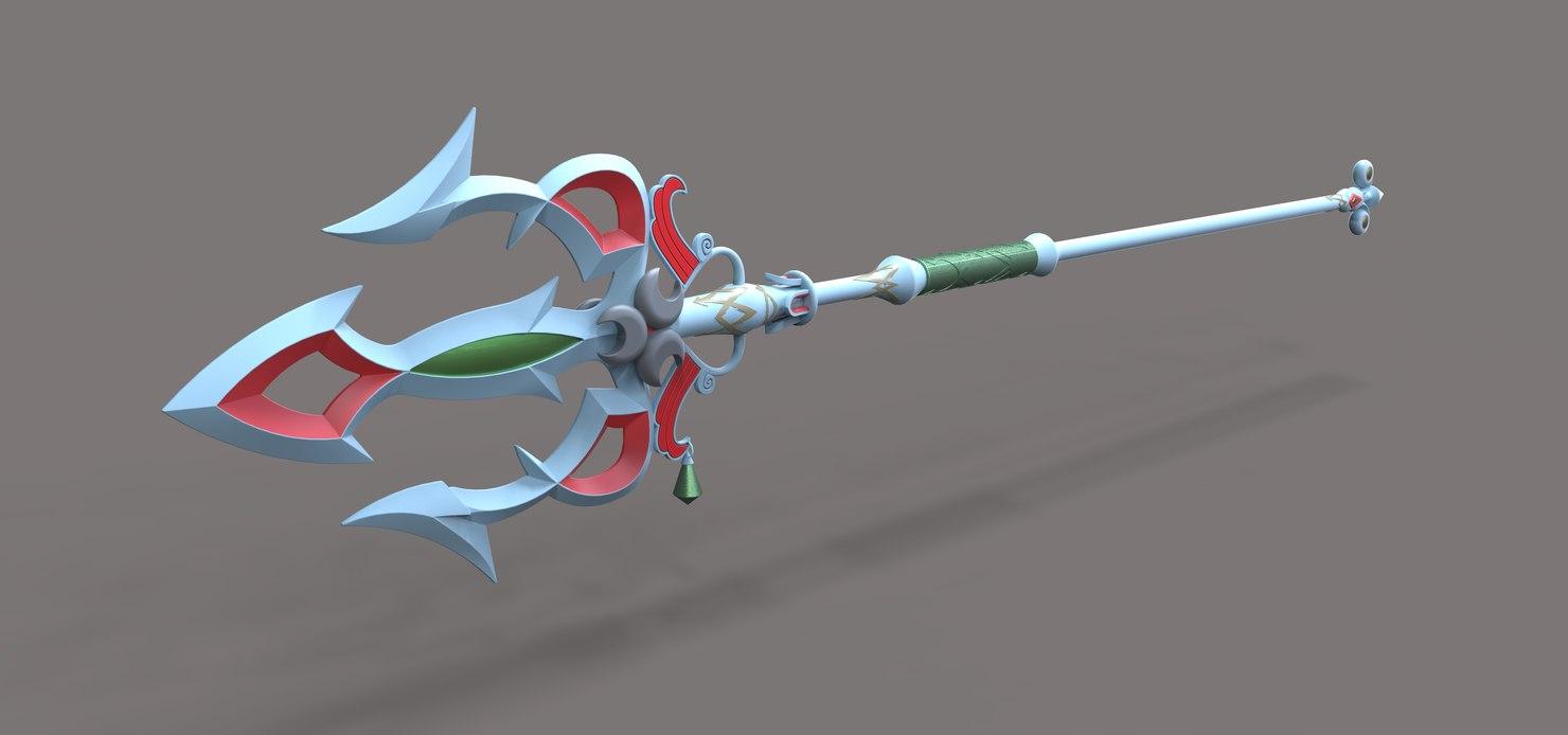 3D lightscale trident legend breath model
