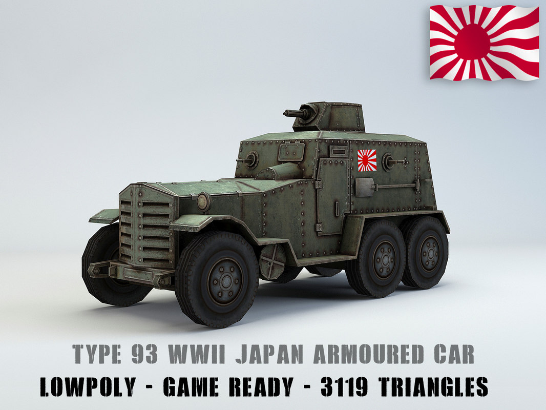 type 93 kokusan armored car 3D model
