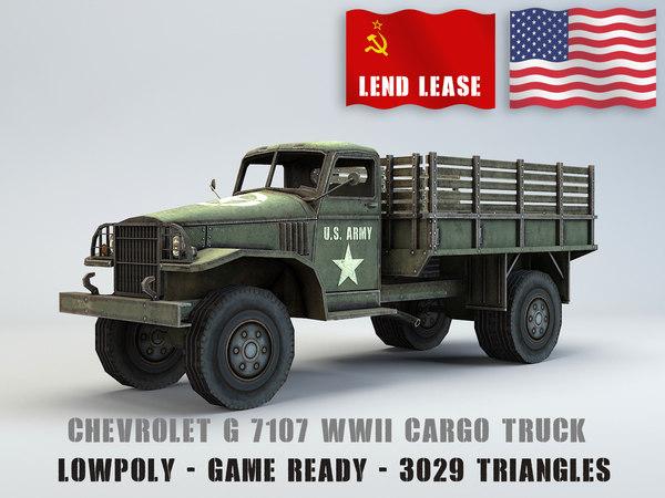 3D chevrolet g7107 truck