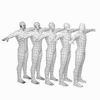 mesh hero male body 3D model