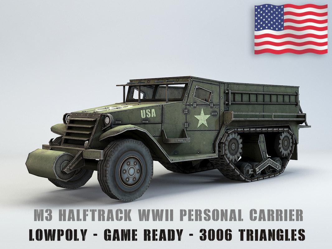 carrier half track 3D