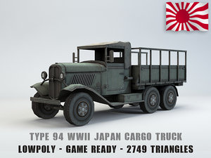 3D model type 94 army truck