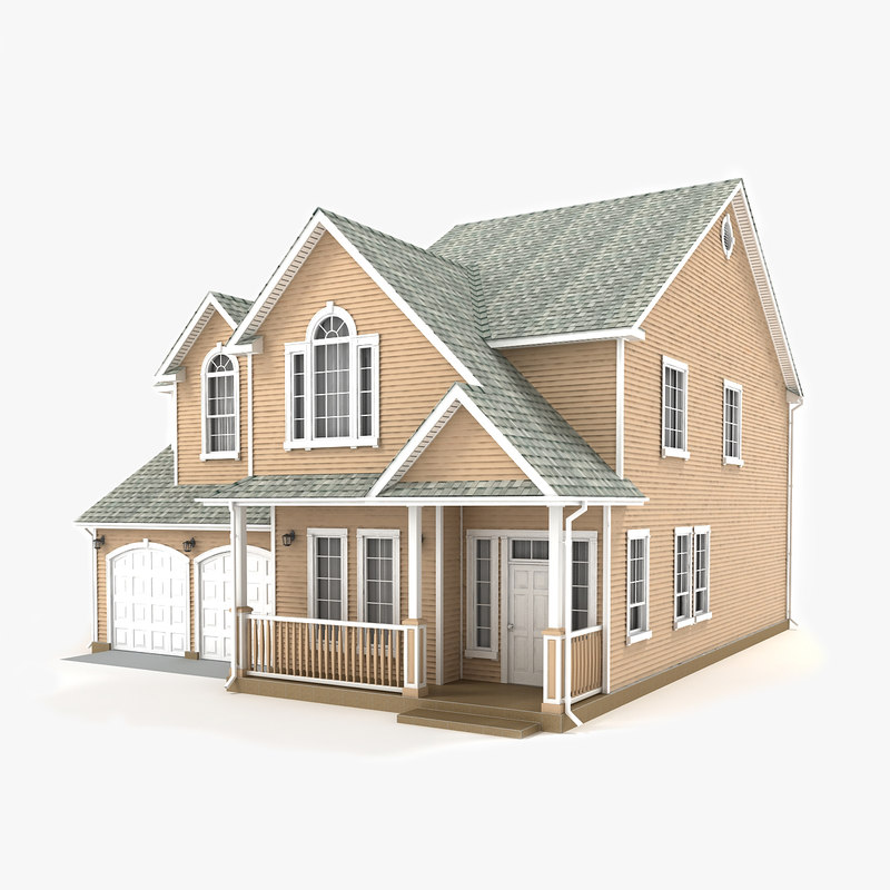 two-story cottage 54 3D model