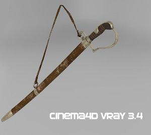 ottoman sword 3D