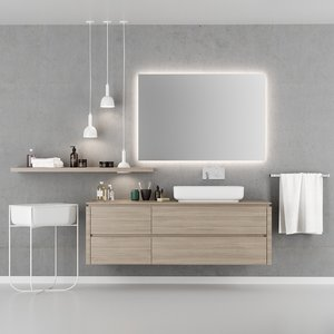 3D qi bathroom furniture set