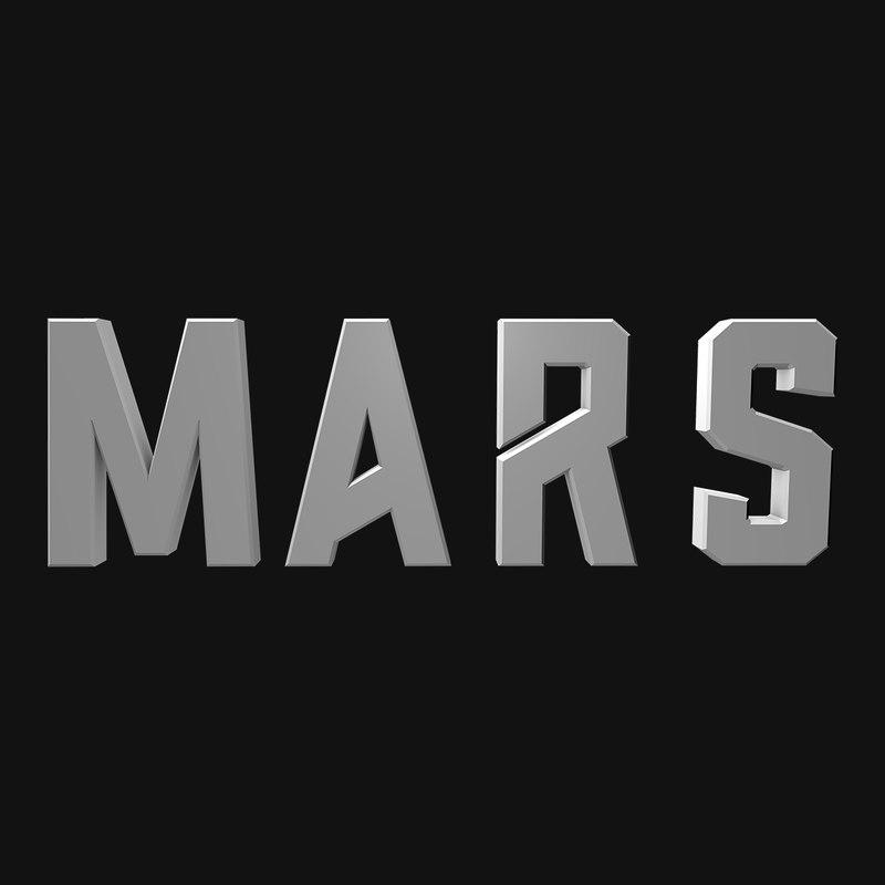 3D mars movie letters
