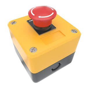 3D emergency stop button