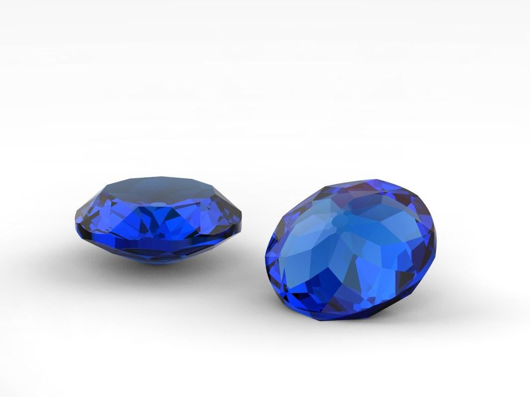 crystal stone model