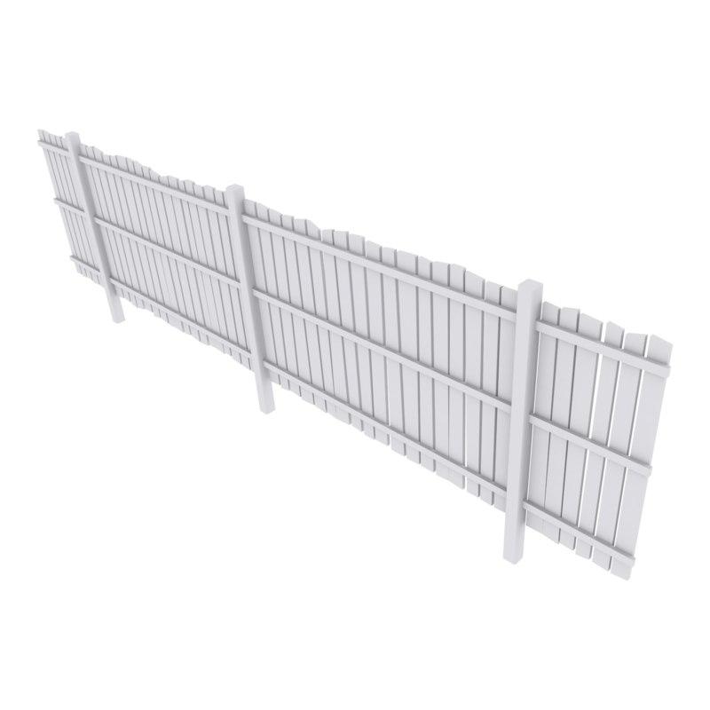 3D fence wood
