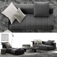 minotti freeman sitting room 3D