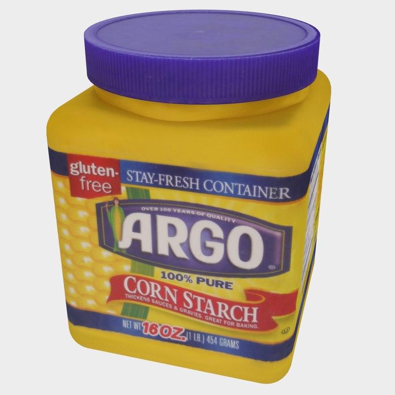 3D cornstarch container model