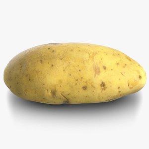 3D potato raw 3 model