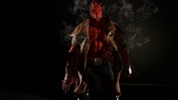 3D hellboy body