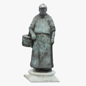 3D statue hungary