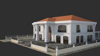 classic precast villa 3D model