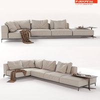 3D flexform sectional sofa ettore