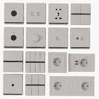 Coswall Krst Detail Photorealistic Modular Range Switches & Wall Sockets Set